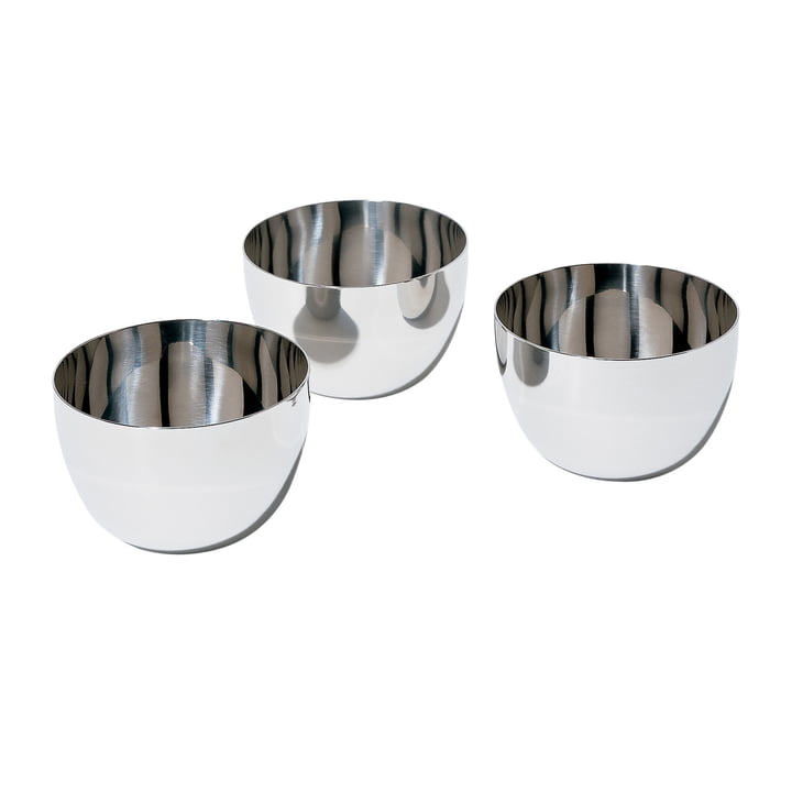 Mami bowl by Alessi in stainless steel (set of 3)