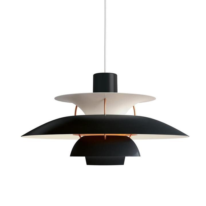 PH 5 Pendant lamp by Louis Poulsen in hues of black / orange
