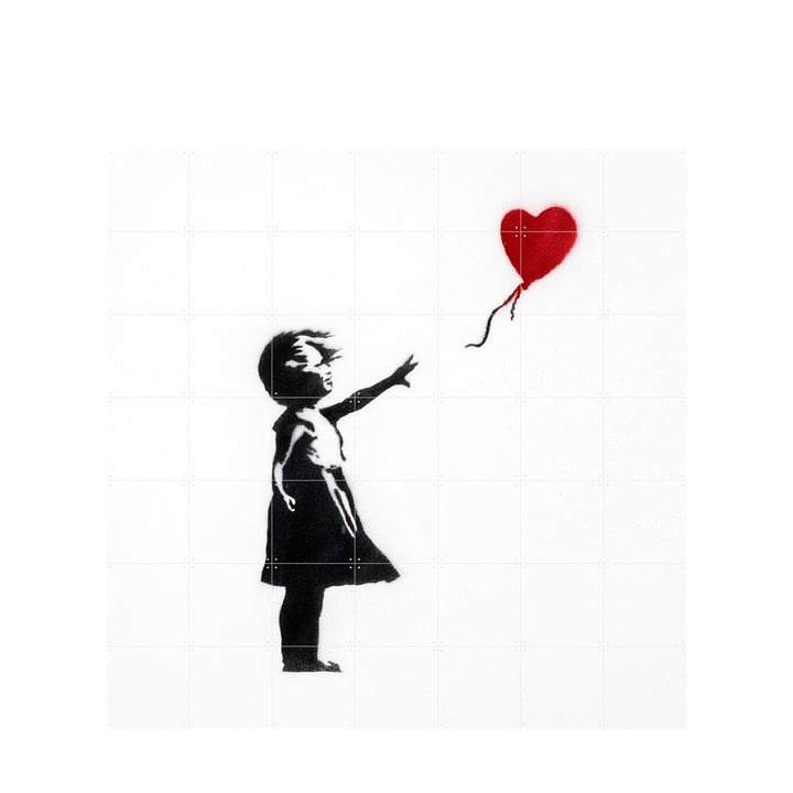 Girl with Balloon (Banksy) 140 x 140 cm by XXI