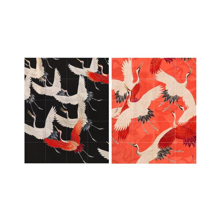 Kimono with cranes, 80 x 100 cm from XXI