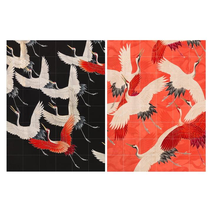 Kimono with cranes 120 x 160 cm from IXXI