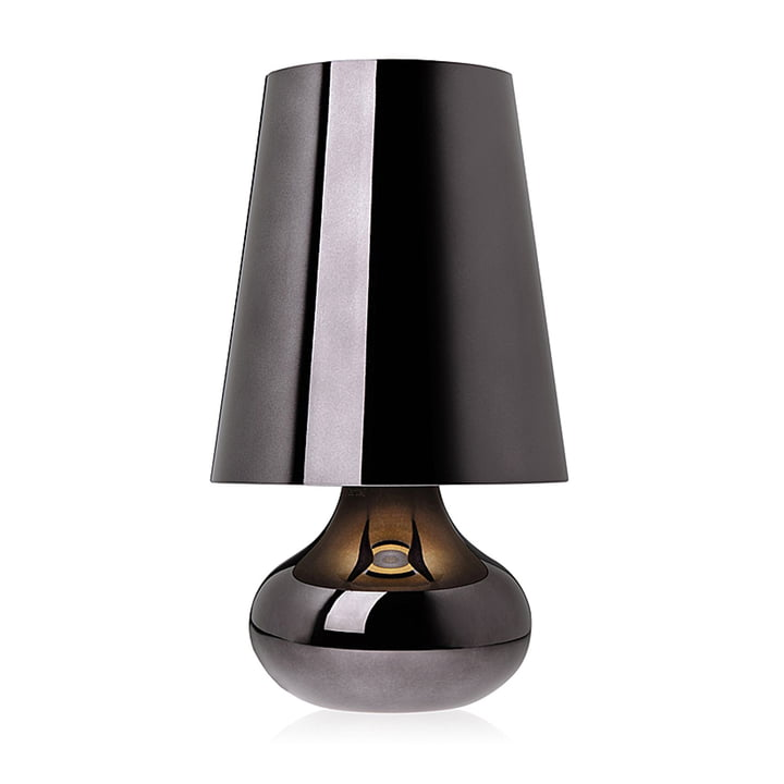 Cindy table lamp, metallic grey by Kartell