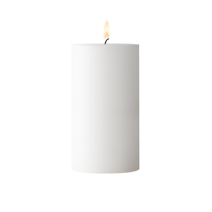 White block candle, D 6. 5 cm x H 12 cm
