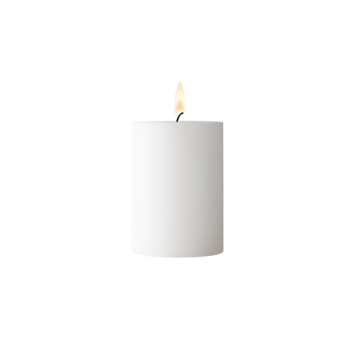 White pillar candle 7 cm height