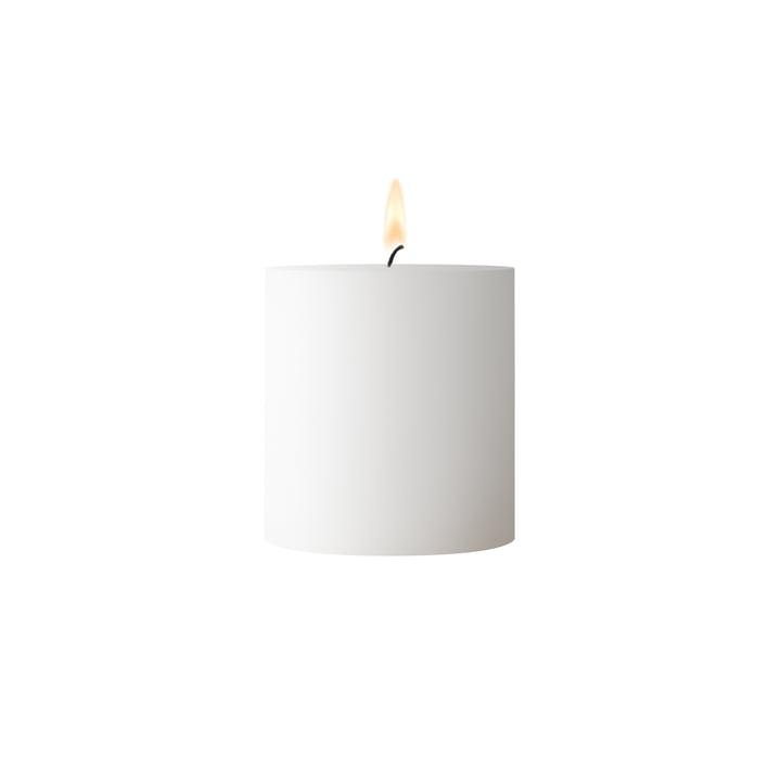 Simple block candle, D 6. 5 cm x H 7 cm