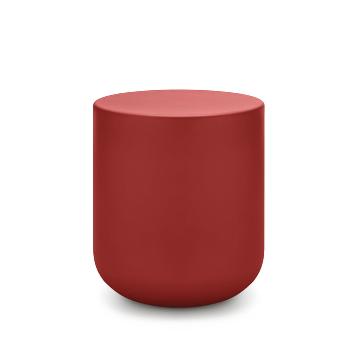 157 Coffee table Ø 45 x H 50 cm freestyle in coral red (RAL 3016)