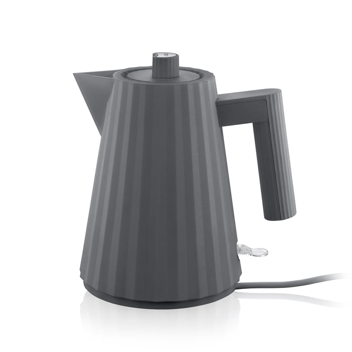 Plissé kettle 1 l of Alessi in grey