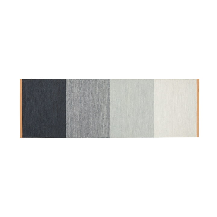 Fields carpet 80 x 250 cm from Design House Stockholm in blue / grey