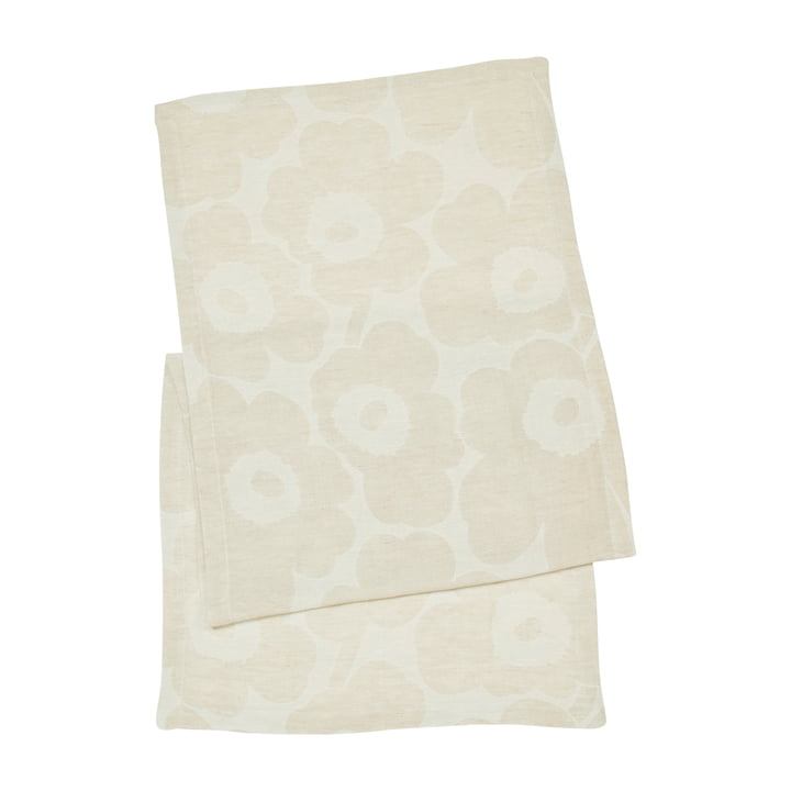 Unikko table runner, beige / white by Marimekko