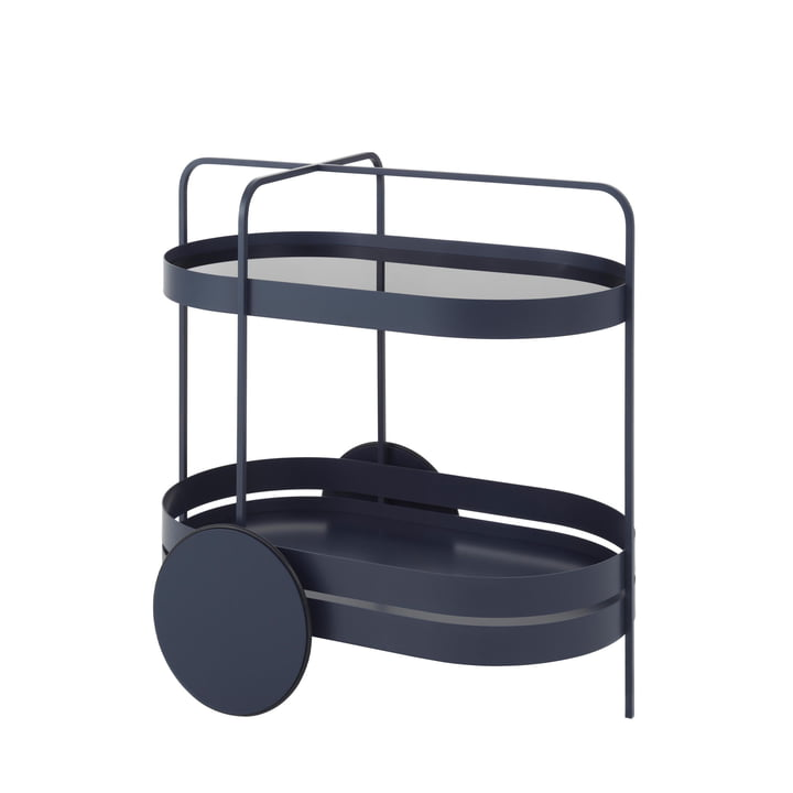 Grace serving trolley from Schönbuch in night blue