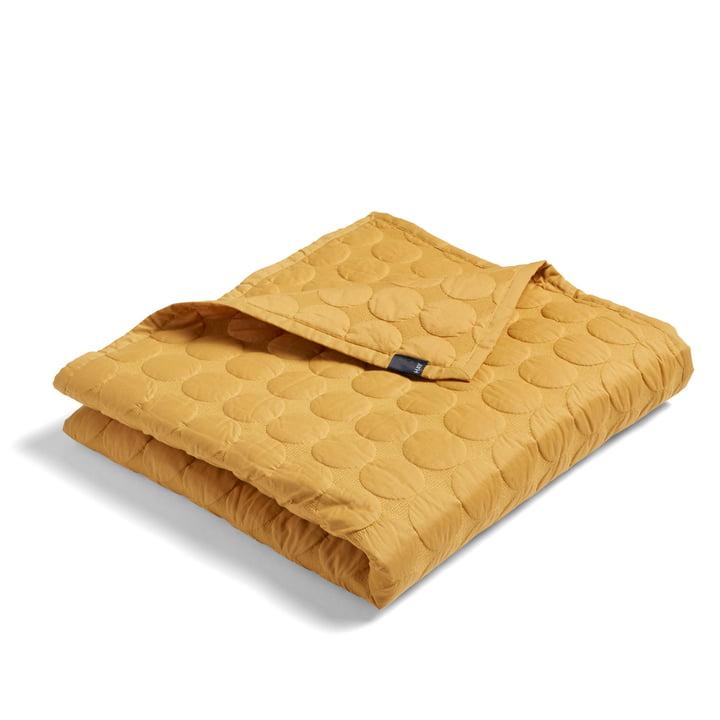 Mega Dot bedspread 195 x 245 cm from Hay in mustard