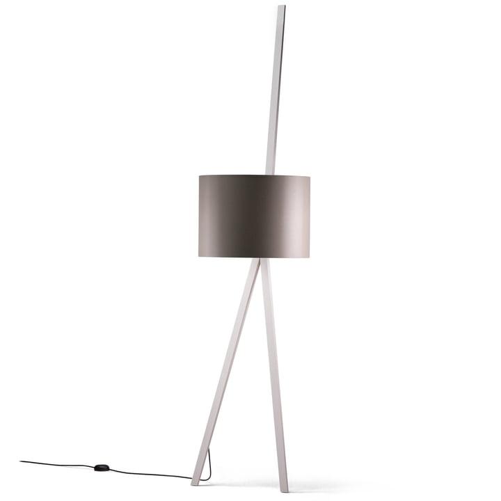 LUCA LEAN armchair lamp, ash white, grey from Maigrau
