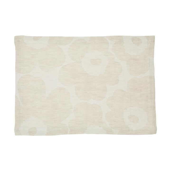 Pieni Unikko placemat woven, beige / white by Marimekko