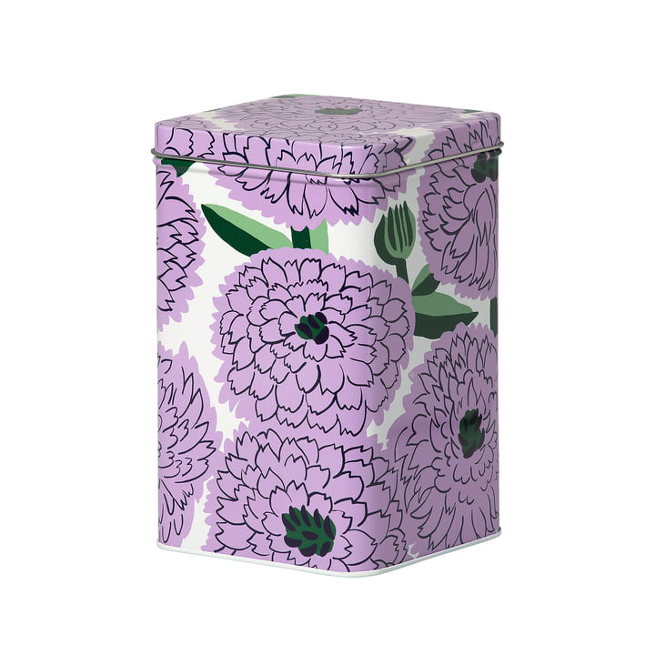 Primavera storage box, white / purple / green by Marimekko