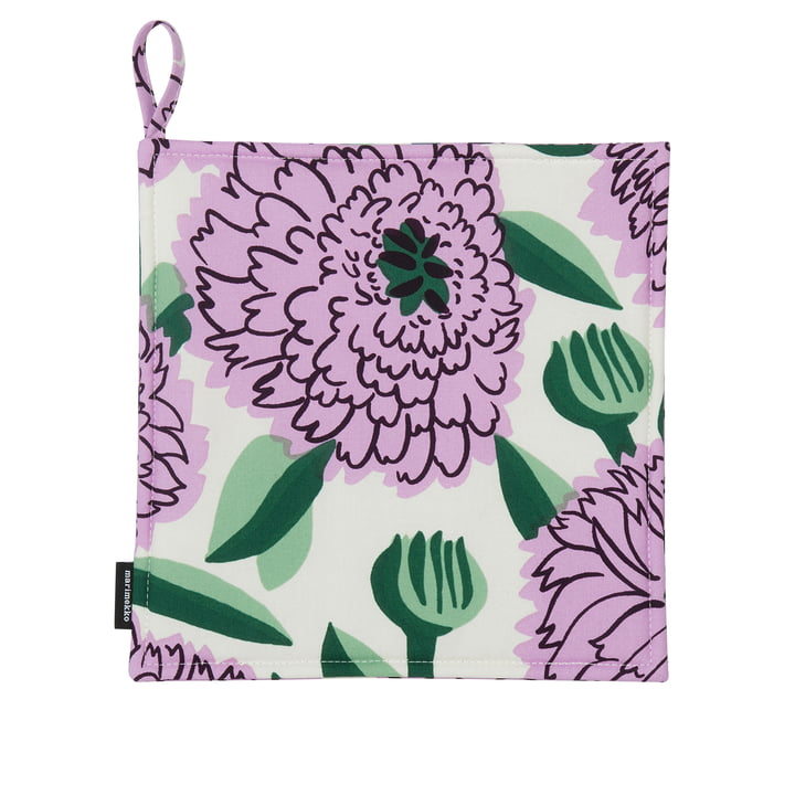 Pieni Primavera Potholders, white / purple / green from Marimekko