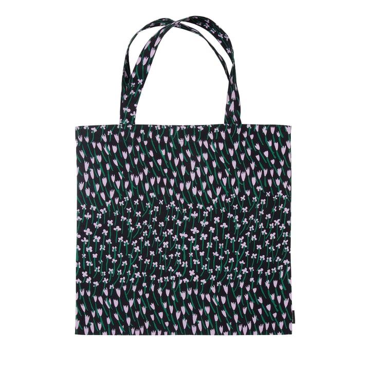 Apilainen shopping bag, dark blue / purple / green by Marimekko