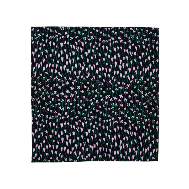 Apilainen tea towel, dark blue / purple / green from Marimekko