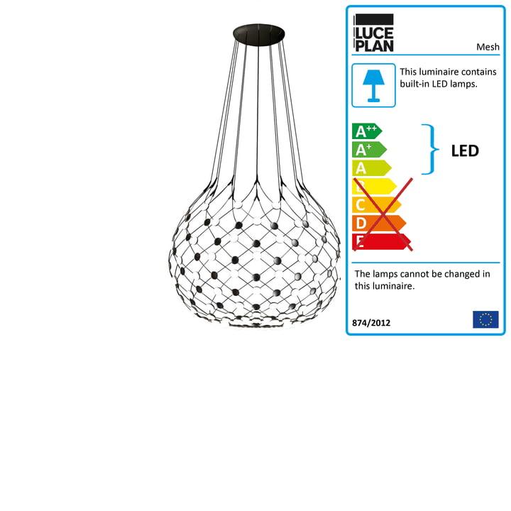 Mesh pendant luminaire from Luceplan Ø 100 cm / cable length 100 cm