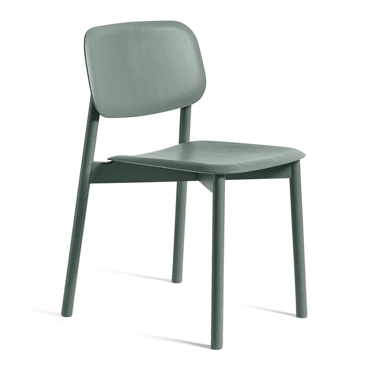 Soft Edge 12 chair by Hay in oak dusty green stained