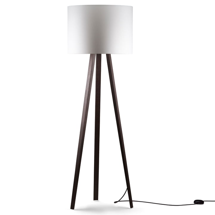 LUCA STAND HIGH floor lamp, oak smoked, white of maigrey