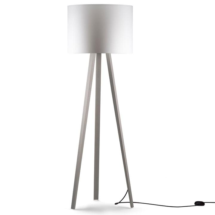 LUCA STAND HIGH Floor lamp, ash white, white from Maigrau