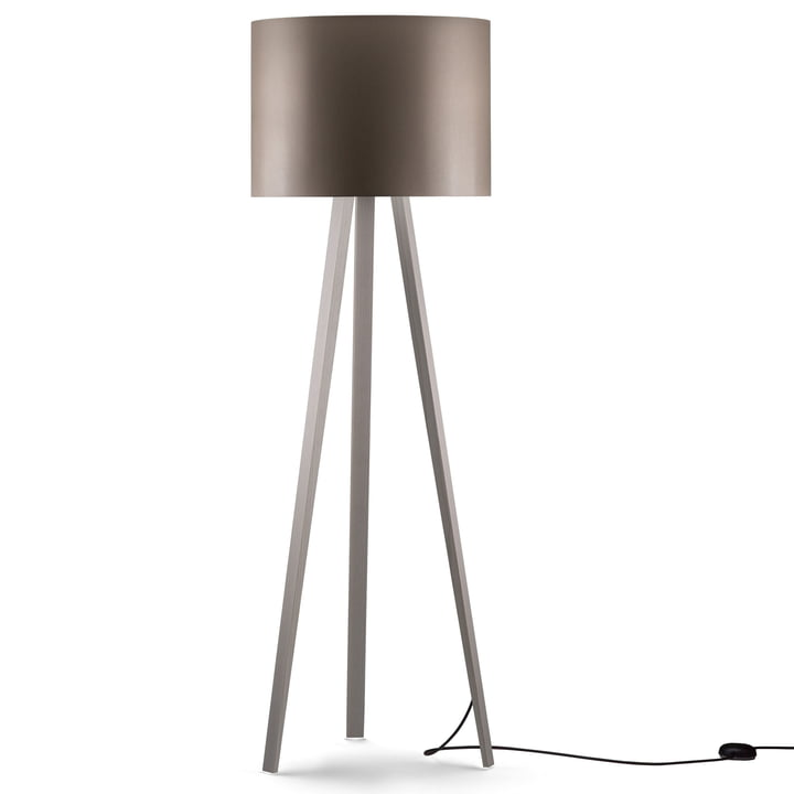 LUCA STAND HIGH Floor lamp, Ash white, grey from Maigrau