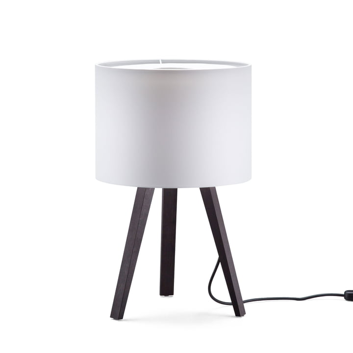 LUCA STAND LITTLE table lamp, oak smoked, white of May grey