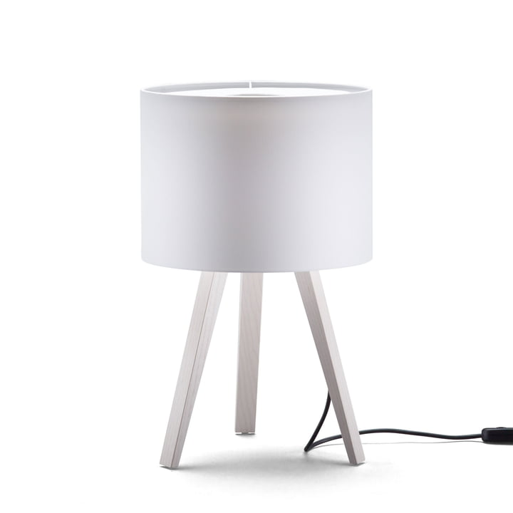 LUCA STAND LITTLE Table lamp, ash white, white from Maigrau