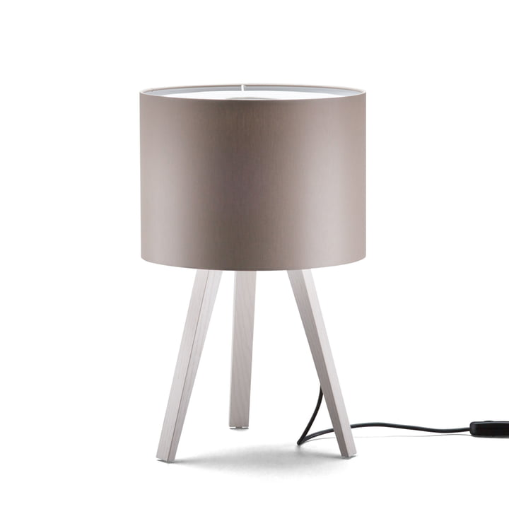 LUCA STAND LITTLE Table lamp, ash white, grey from Maigrau
