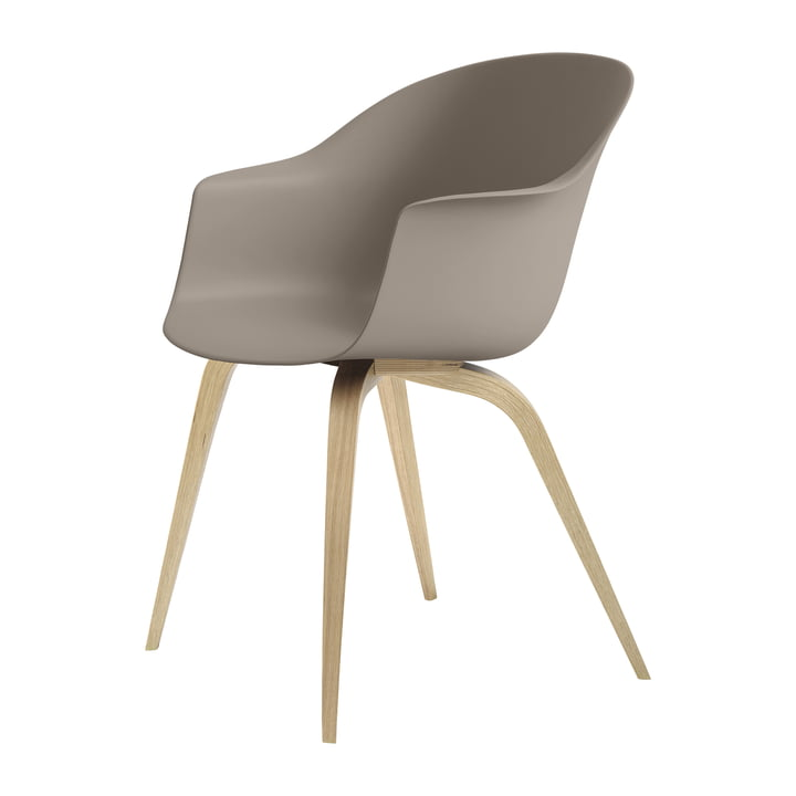 Bat Dining chair by Gubi in oak semi-matt lacquered / new beige