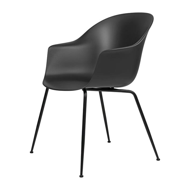 Bat Dining Chair by Gubi in Base black / black
