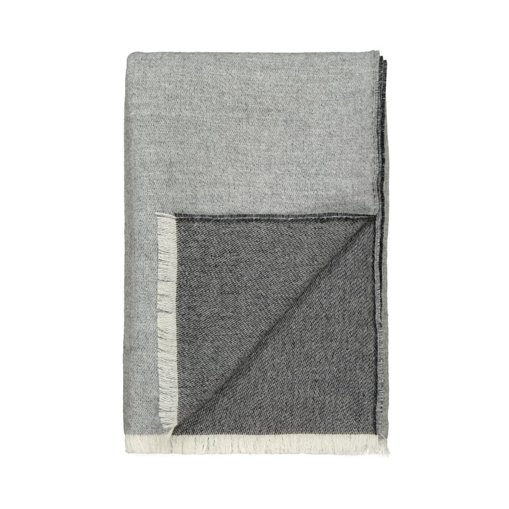 Venice blanket, white / grey by Elvang