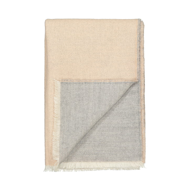 Venice blanket, white / nude by Elvang