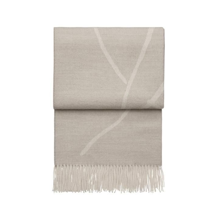 Wildflower blanket, beige / white by Elvang