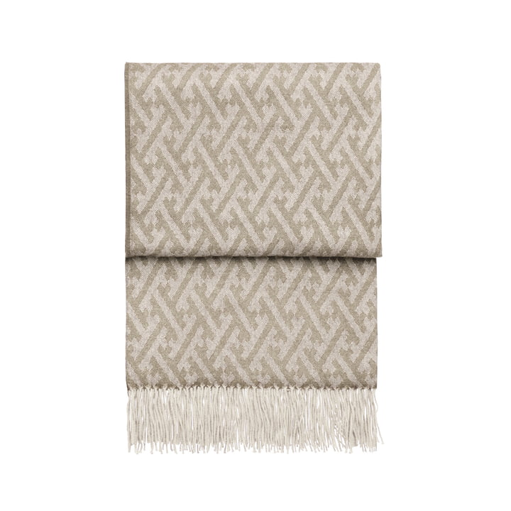 Amazing blanket, beige / white by Elvang