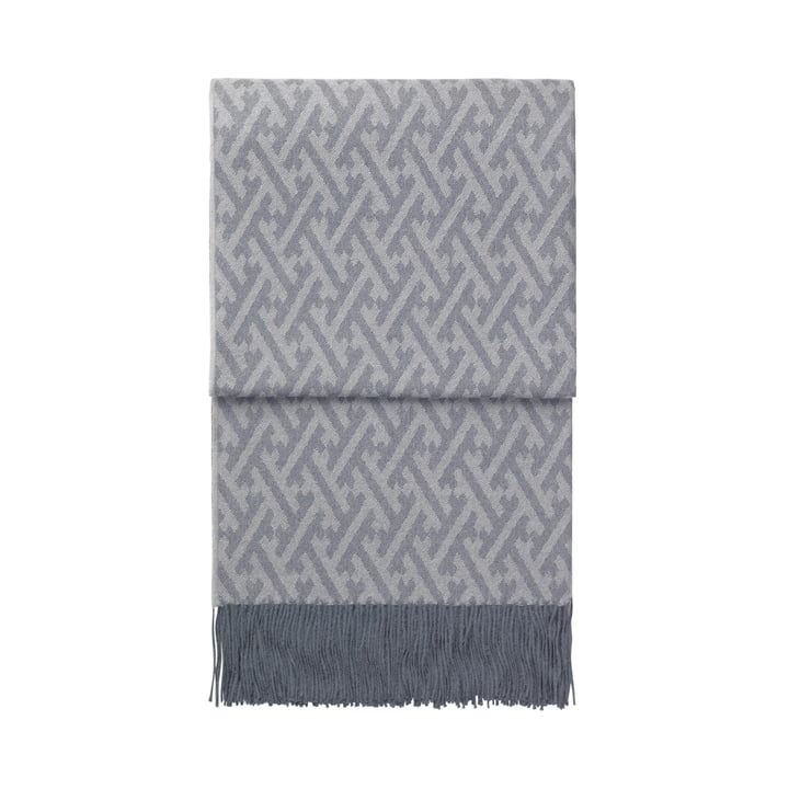 Amazing blanket, grey blue / grey by Elvang