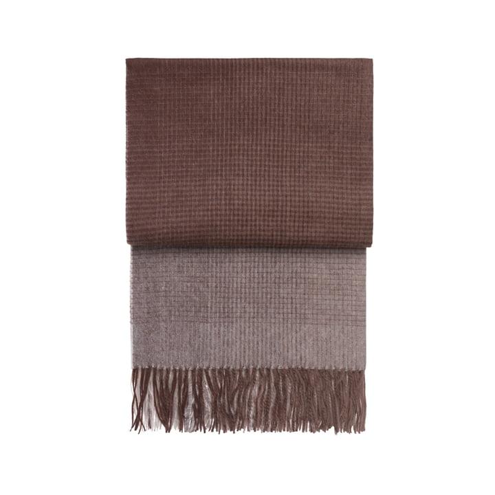 Horizon blanket, plum / cognac by Elvang