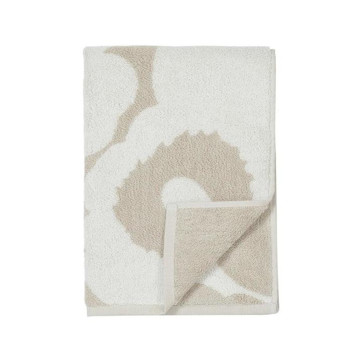 Unikko Towel from Marimekko in beige / white