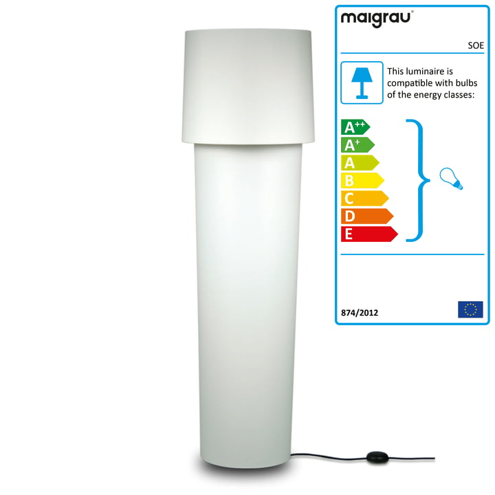SOE 140 Floor lamp, white from Maigrau