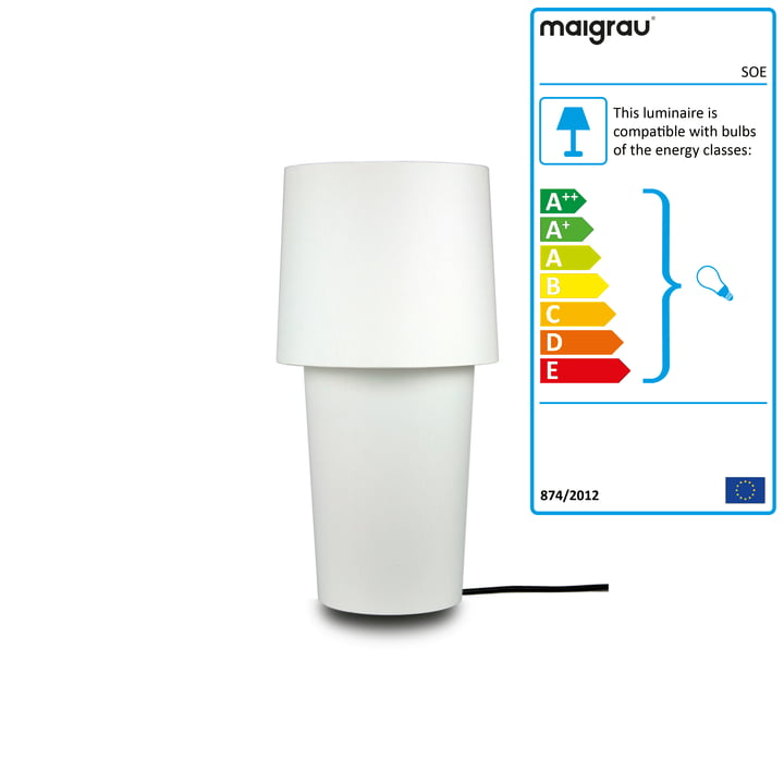 SOE 45 Table lamp, white from Maigrau