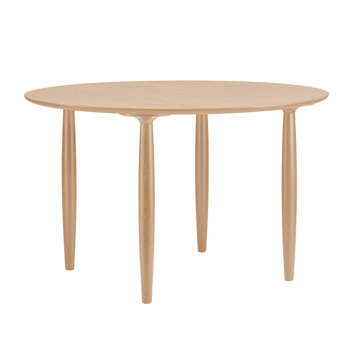 Oku dining table Ø 120 cm from Norr11 in oak nature