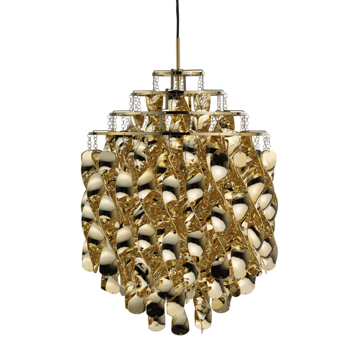 Spiral SP01 pendant lamp, gold by Verpan