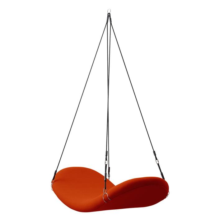 Flying Chair, red-orange, (Hallingdal 65/600) by Verpan