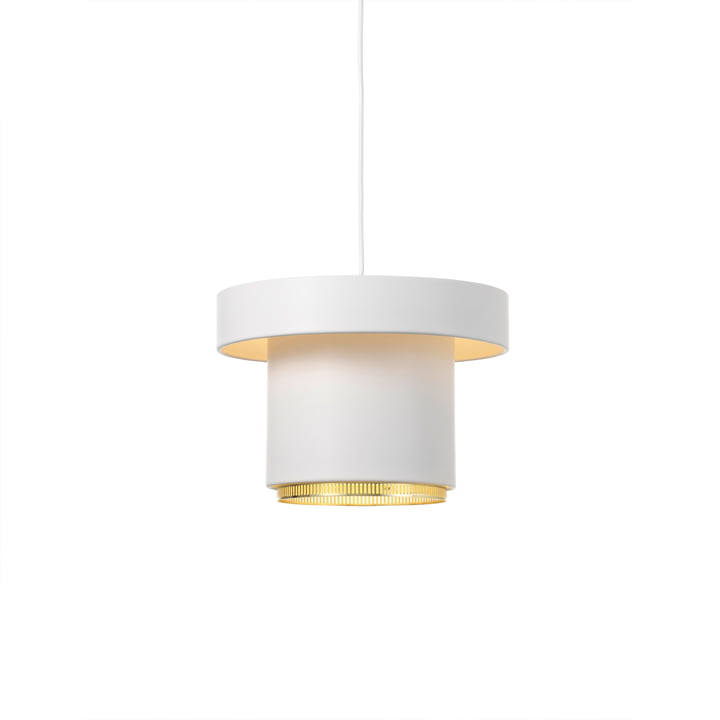 A201 pendant lamp from Artek in brass / white