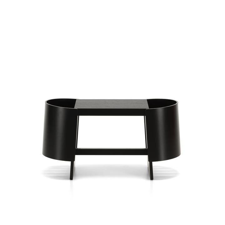 Kiulu bench W 88 x 36 cm by Artek in birch black varnished