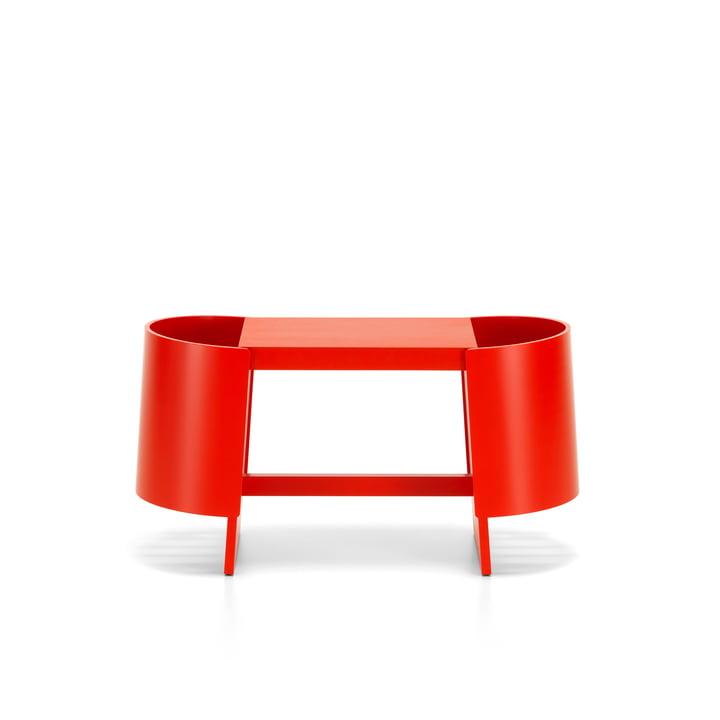 Kiulu bench W 88 x 36 cm by Artek in birch red lacquered
