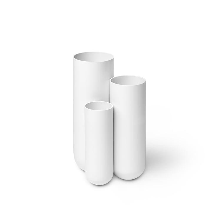 Step Umbrella stand from Müller Möbelfabrikation in signal white silk matt (RAL 9003)