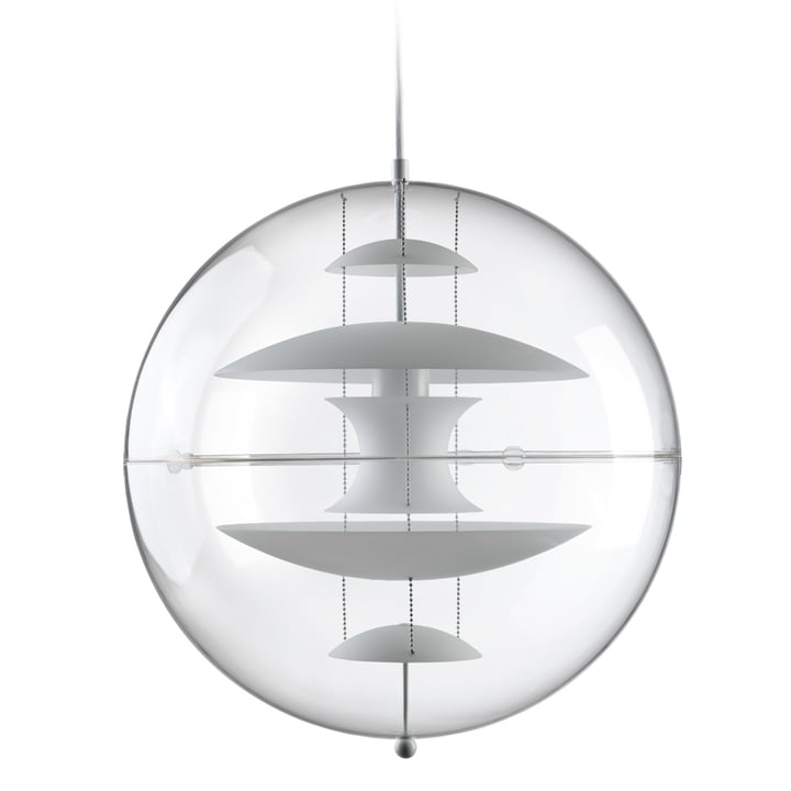 VP Globe pendant luminaire Ø 50 cm, opal white / clear from Verpan