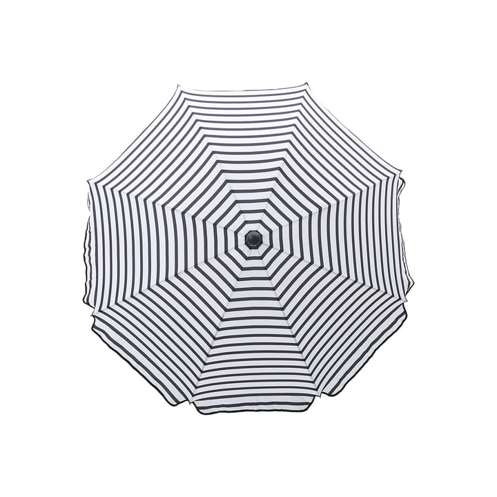 Octagon parasol Ø 180 cm, black / white by House Doctor