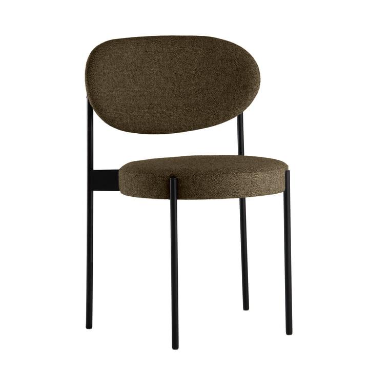 Chair 430 by Verpan in black / dark beige (Hallingdal 65/227)